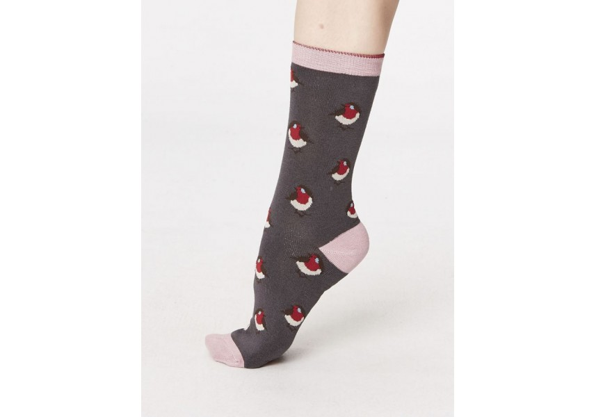 Bambusové ponožky dámské s ptáčky
