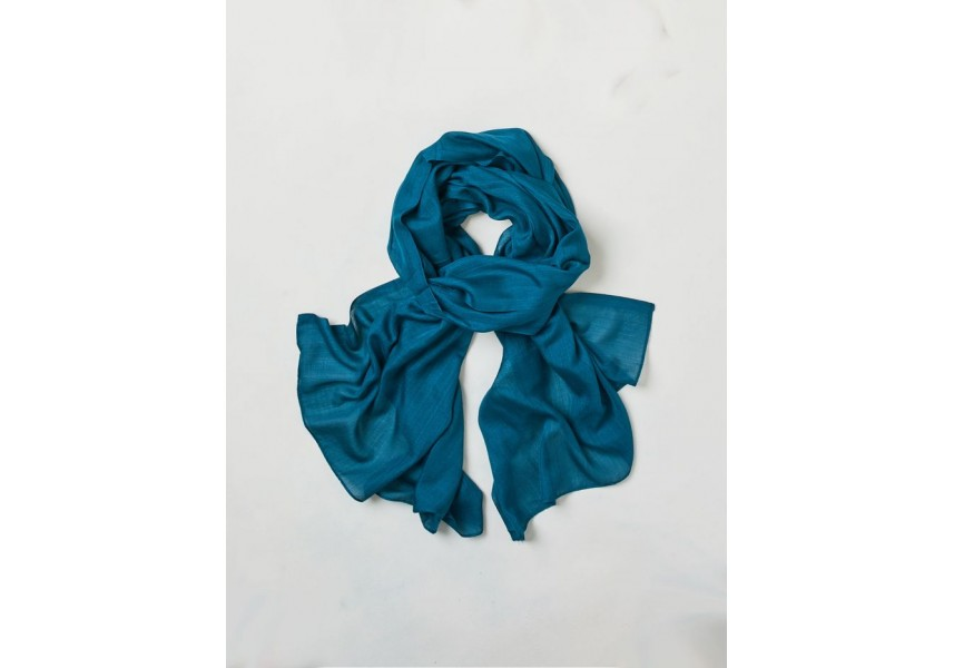 Bambusový šál modrozelený