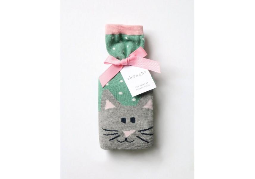 Bambusové ponožky dámské  kočičí