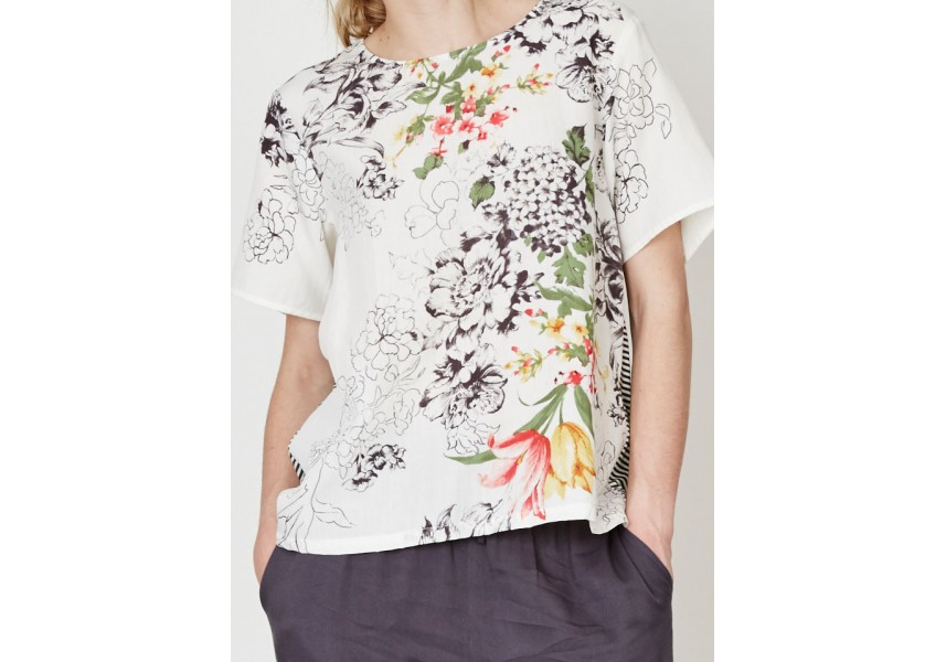 Květinové triko La Boudeuse
