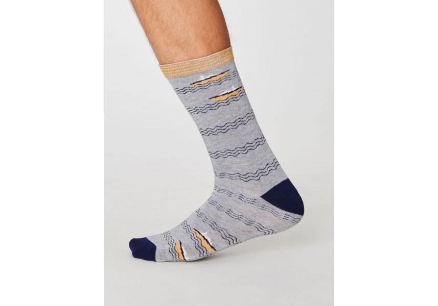 Bambusové ponožky pánské s loděmi