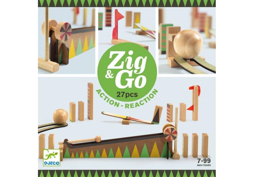 Dřevěná dráha Zig Go 27 dílků