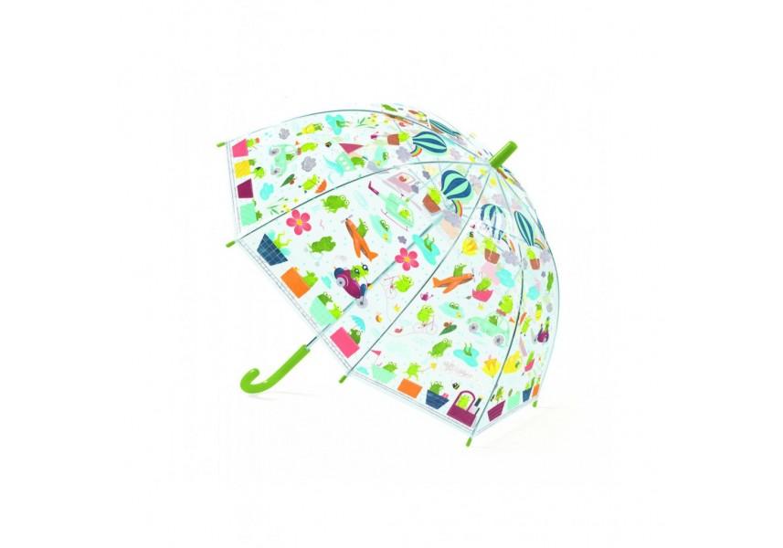 Krásný designový deštník žabí cestování