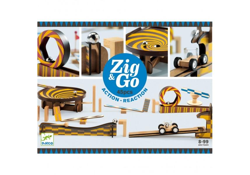 Dřevěná dráha Zig Go 45 dílků