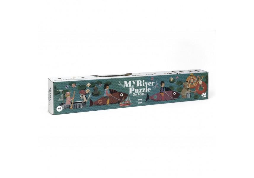 Dlouhé puzzle Na řece - 3m - 54 dílků