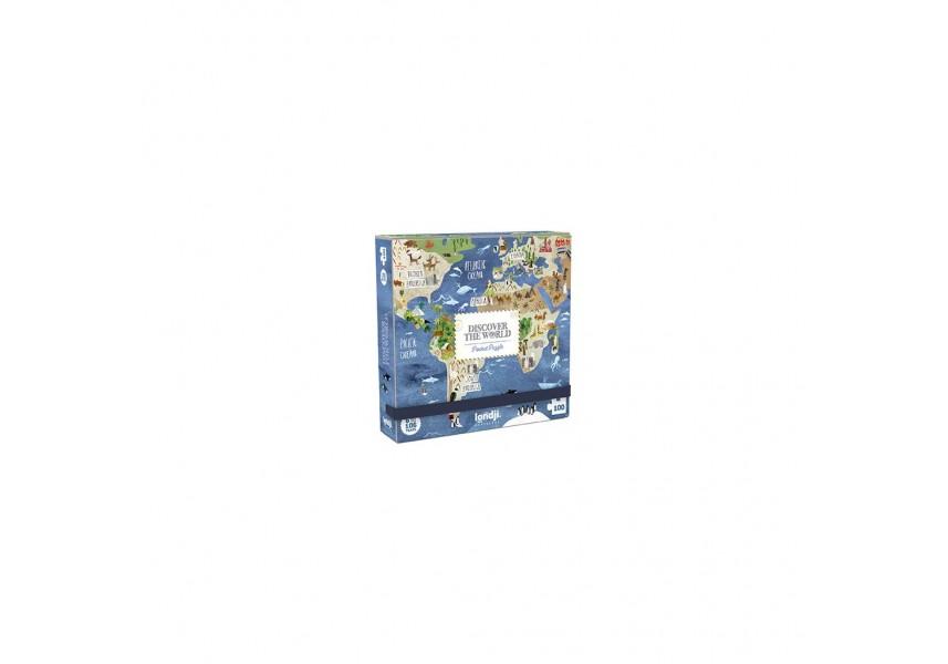 Kapesní puzzle Kolem světa - 100 dílků