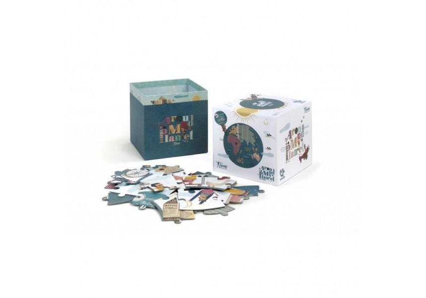 Kruhové puzzle Moje planeta 52 dílků