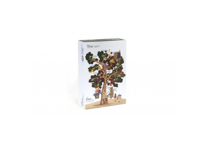 Oboustranné velké puzzle strom