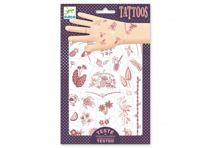Tetování metalické Léto v růžovém