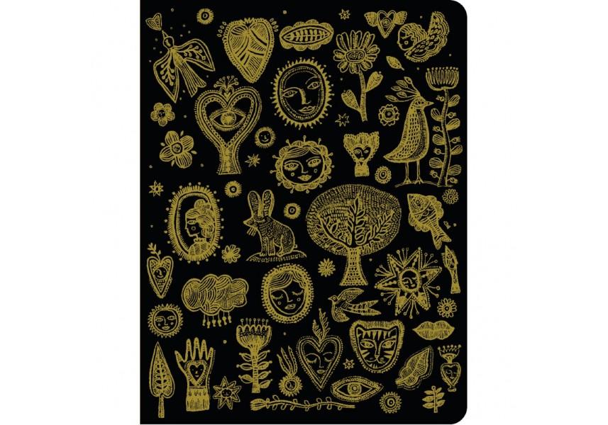Krásný designový zápisník zlatá Aurélia