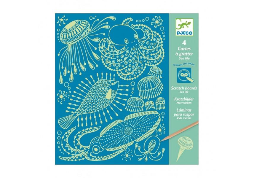 Vyškrabávací obrázky -Mořské mámení
