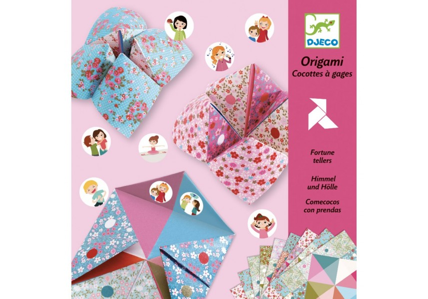Origami skládačka nebe peklo ráj růžová
