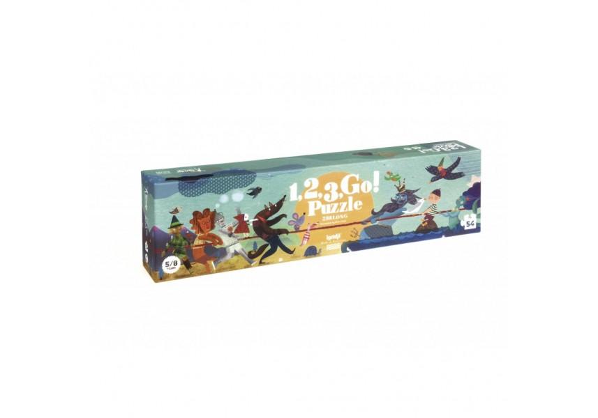 Dlouhé puzzle Velká přetahovaná - 54 dílků