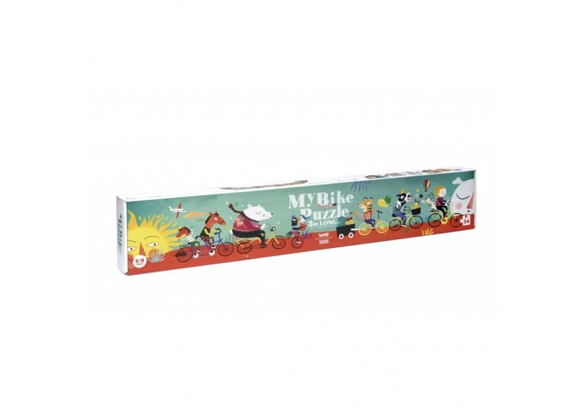 Dlouhé puzzle Na kole - 54 dílků