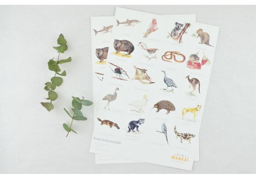 Pexeso Zvířata Austrálie