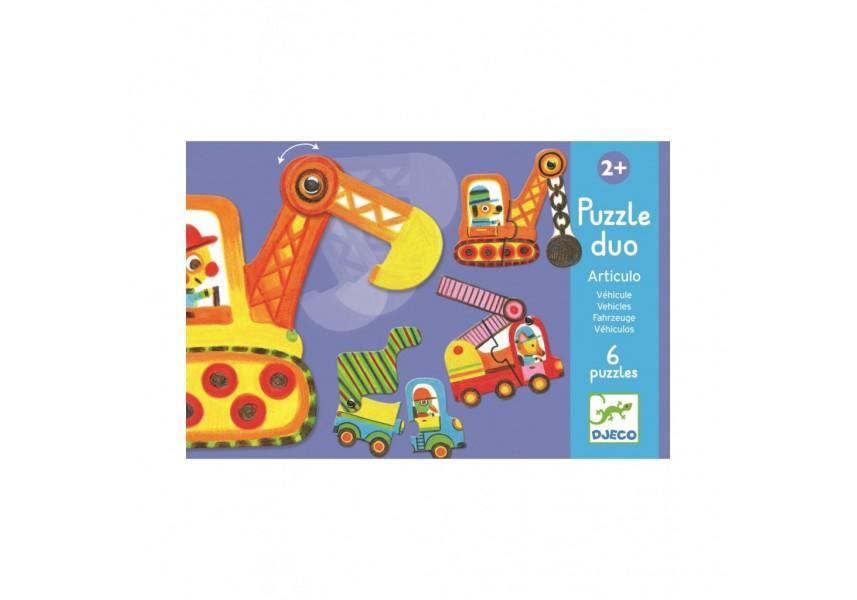 Duo puzzle Autíčka v pohybu